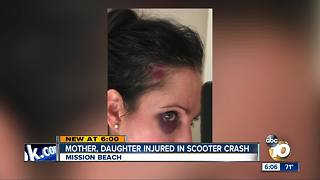 Mom, daughter injured in motorized scooter crash - Video