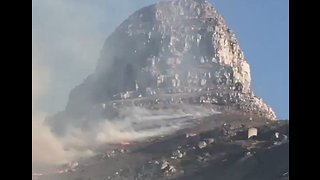 Smoke Rises From Wildfire on Cape Town Mountain - Video