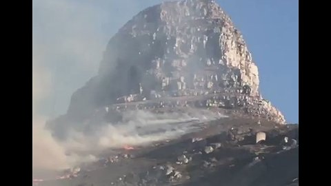 Smoke Rises From Wildfire on Cape Town Mountain