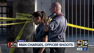 Man shot after charging Mesa police officers - Video