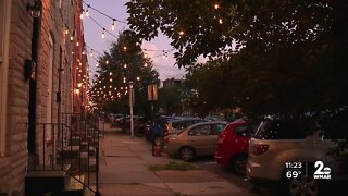 Neighborhood lit up in Baltimore to discourage crime