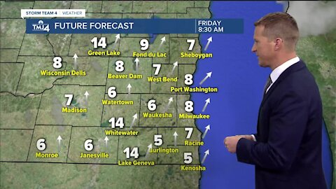 Lots of sunshine Friday with highs in the lower 40s