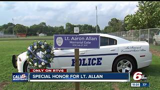 Indiana State Fair gate dedicated to fallen Southport Lt. Aaron Allan - Video