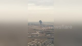 Spanish Jet F-18 crashes right after take-off - Video