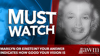 Marilyn or Einstein? Your answer indicates how good your vision is - Video