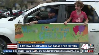 Kansas City teen battling cancer surprised with birthday parade