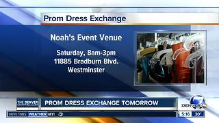 Prom Dress Exchange on Saturday helps teens get a dress for prom - Video