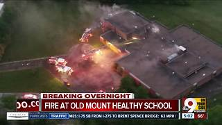 Fire at abandoned Mount Healthy school 'suspicious' - Video