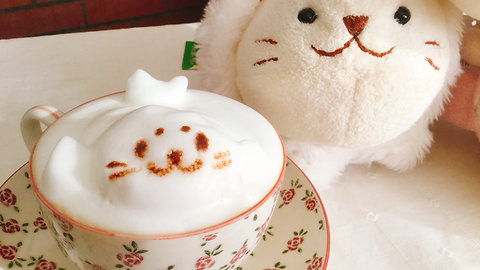 Coffee foam DIY: Super cute 3D latte art