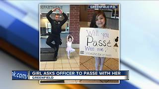 Girl asks Greenfield PD officer to Passe with her - Video