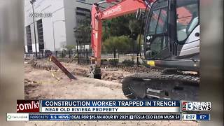 Construction worker trapped in trench