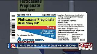 Nasal spray recalled after glass found inside - Video