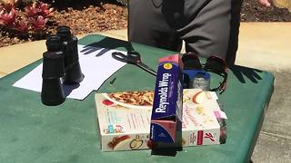 How to view the eclipse safely using household items. - Video
