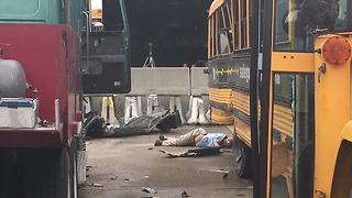Seatbelts save students in simulation crash - Video