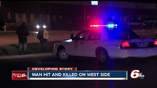 Man struck, killed on Indianapolis' west side - Video