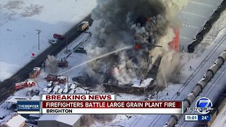 Large fire engulfs abandoned building in Brighton Friday morning