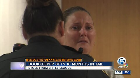 Little league bookkeeper gets 10 months in jail