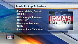 Hurricane Irma: Trash pickup schedule in Tampa Bay Area - Video