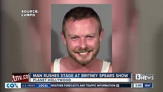 Mug shot of man who rushed Britney Spears show - Video