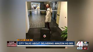 Kansas City proposal to Amazon hand-delivered to headquarters in Seattle - Video