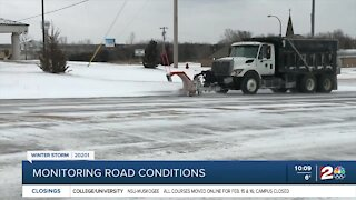 City of Tulsa working non-stop to clear city streets