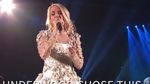 Watch Carrie Underwood's Emotional Performance at the Las Vegas Memorial