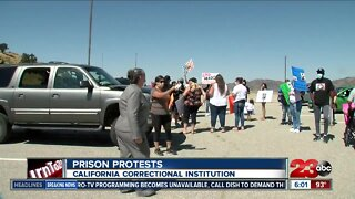 Protestors demand better conditions for inmates at Tehachapi prison