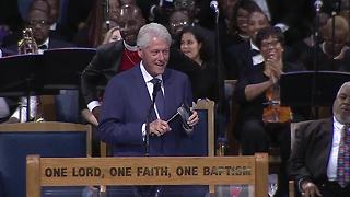 WATCH: President Bill Clinton speaks at Aretha Franklin's funeral