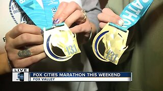 Mother & Daughter running the Fox Cities Marathon