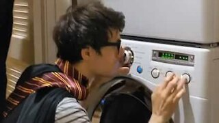Young wizards interpret Harry Potter soundtrack using washing machine