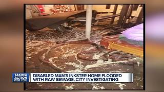 Disabled Inkster man's home floods with feces, urine 13 times - Video