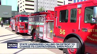 State lawmakers, Detroit firefighters' union discuss 'no lights, no sirens' policy