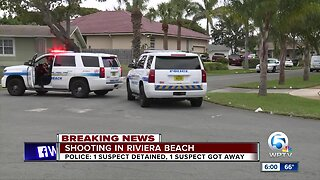 Suspect detained, another on the run after shooting in Riviera Beach