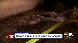 Sewage spills out near homes in San Tan Valley