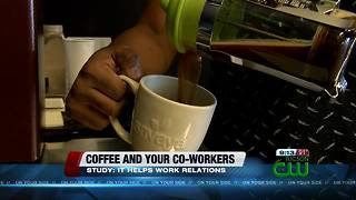 Study: drinking coffee can improve relations among co-workers