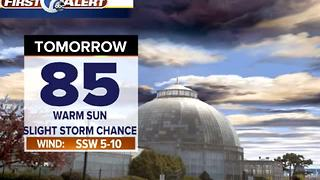 Isolated storm chance tonight - Video