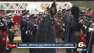 Funeral services held for firefighter killed in the line of duty - Video