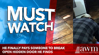He Finally Pays Someone To Break Open Hidden Door He Finds Under Kitchen Floor [photos] - Video