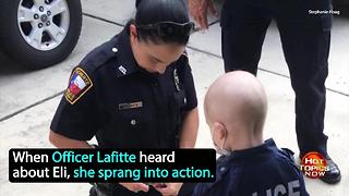 Cops honor 3-year-old battling cancer - Video