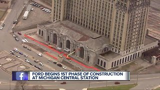 Ford begins first phase of renovations at Michigan Central Station