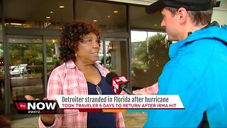 Detroiter stranded in Florida after Hurricane Irma - Video