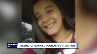 Missing 12-year-old Roseville girl found safe in Detroit