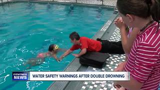 Water safety warnings following double drowning in Buffalo - Video