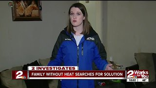 Family without heat searches for solution