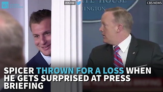 Spicer Thrown For A Loss When He Gets Surprised At Press Briefing