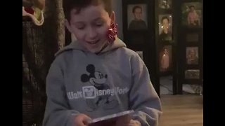This Boy's Sweet Reaction When He's Surprised With Ariana Grande Tickets for Christmas Will Make Your Day - Video