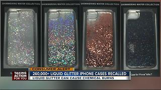 Glittery iPhone cases recalled due to skin irritations, burns - Video