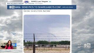 Tornado warning issued in Mohave county Friday morning