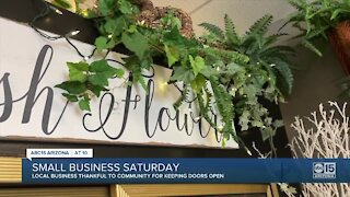 Local flower shop shares story of surviving the pandemic on Small Business Saturday