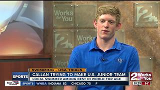 Bishop Kelley Swimmer Patrick Callan qualifies for U.S. Junior World Championship team - Video